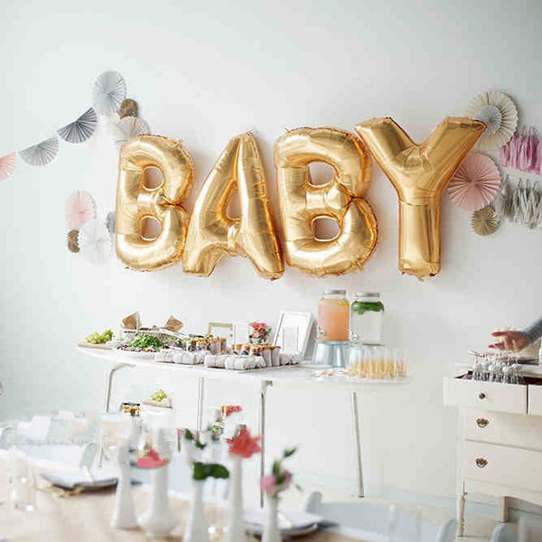 Shop Baby Gold Balloons -  Accessories For A Happy Trendy Modern Home at Low Prices  Color Home Happy