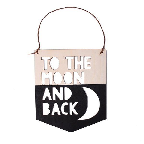 Shop To the Moon and Back Wooden Sign -  Accessories For A Happy Trendy Modern Home at Low Prices  Color Home Happy