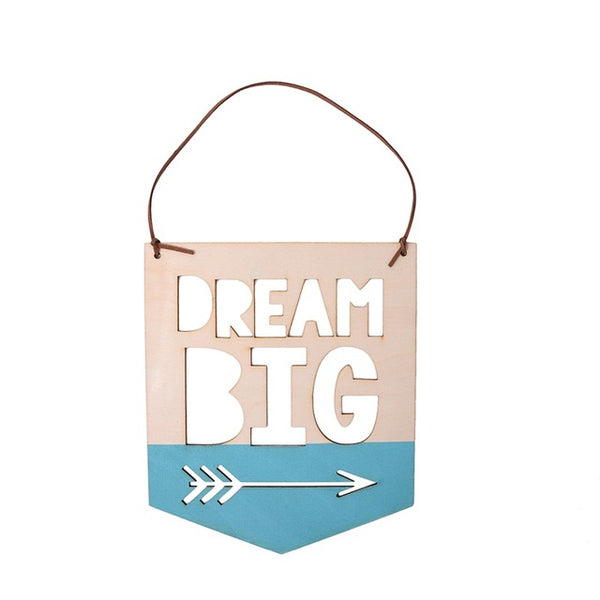 Shop Dream Big Wooden Sign -  Accessories For A Happy Trendy Modern Home at Low Prices  Color Home Happy