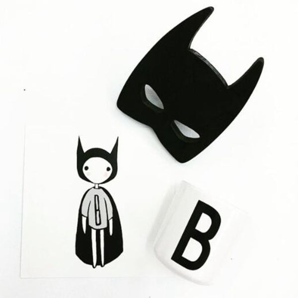 Shop Super Hero Mask Wooden Wall Hook -  Accessories For A Happy Trendy Modern Home at Low Prices  Color Home Happy