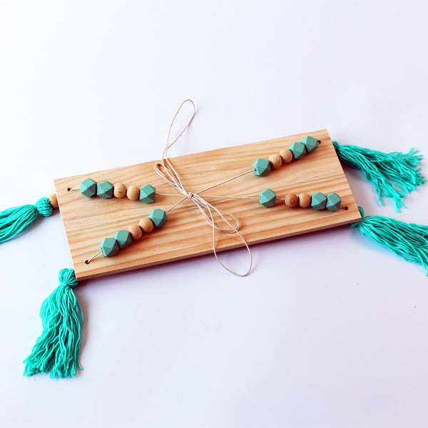Shop Beads and Tassels Hanging Shelf -  Accessories For A Happy Trendy Modern Home at Low Prices  Color Home Happy