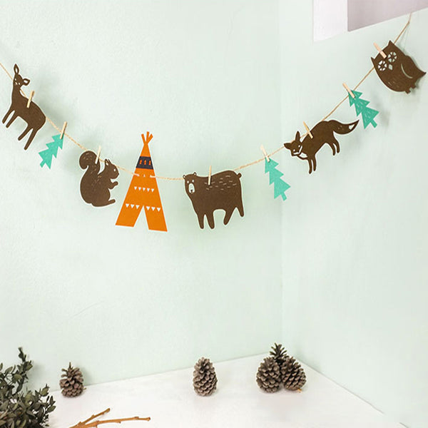 Shop Woodland Animals Fabric Garland -  Accessories For A Happy Trendy Modern Home at Low Prices  Color Home Happy