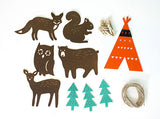 Shop Woodland Animals Fabric Garland -  Accessories For A Happy Trendy Modern Home at Low Prices  Color Home Happy - Accessories for a happy modern home