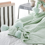 Shop Pom Poms Warm Blanket -  Accessories For A Happy Trendy Modern Home at Low Prices  Color Home Happy - Accessories for a happy modern home