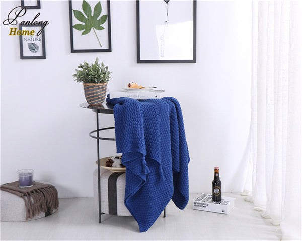 Shop 100% Cotton Knitted Tassel Blanket -  Accessories For A Happy Trendy Modern Home at Low Prices  Color Home Happy