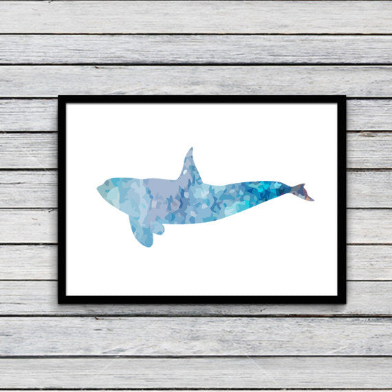 Unframed Whale Canvas Art Print