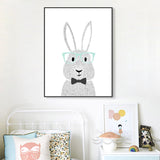 Shop Unframed Rabbit Canvas Art Print -  Accessories For A Happy Trendy Modern Home at Low Prices  Color Home Happy