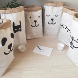 Shop Big Teeth Rabbit Paper Storage Bag -  Accessories For A Happy Trendy Modern Home at Low Prices  Color Home Happy