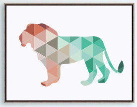Shop Unframed Lion Canvas Art Print -  Accessories For A Happy Trendy Modern Home at Low Prices  Color Home Happy