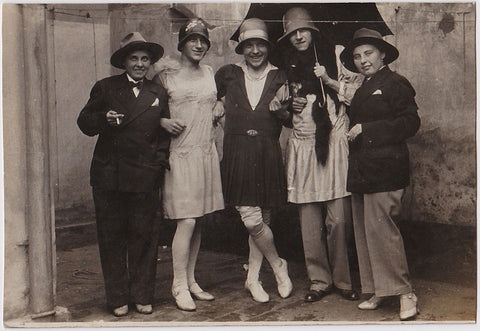 Men in Rows: Unusual, Drag, and Silly vintage photos