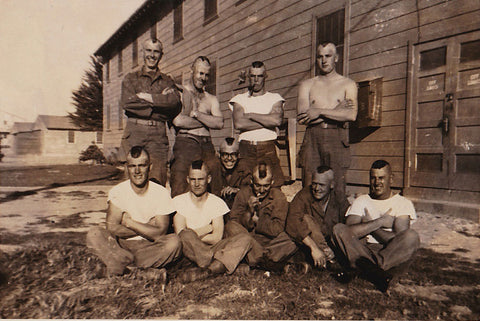 Men in Rows Collection: Military Men Vintage Photos
