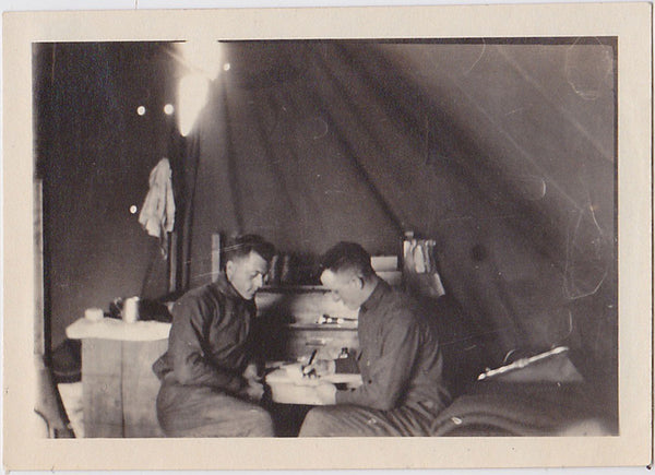 Two Soldiers Writing a Letter