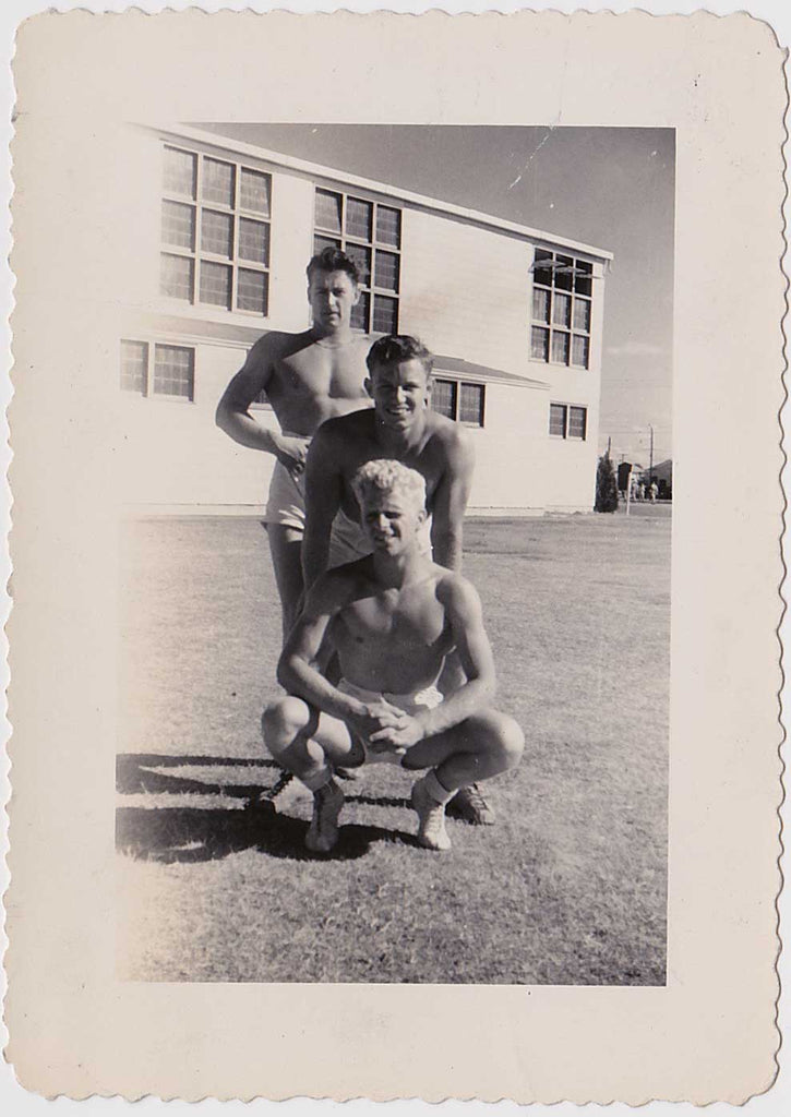 Vintage Snapshot: Three Bodybuilders Posing in the Sun