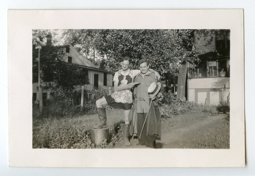 Affectionate Men in Strange Outfits vintage photo