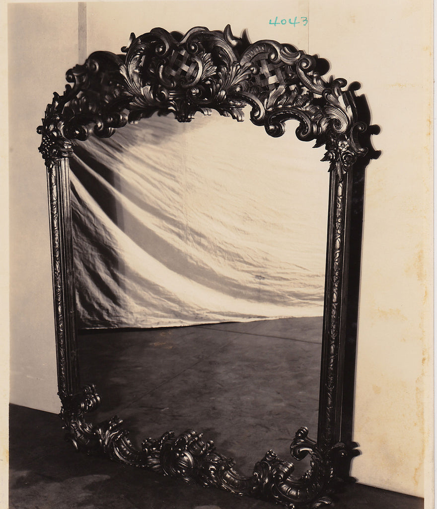 Altman Collection: Ornately Framed Mirror vintage sepia photo interior decoration 1920s