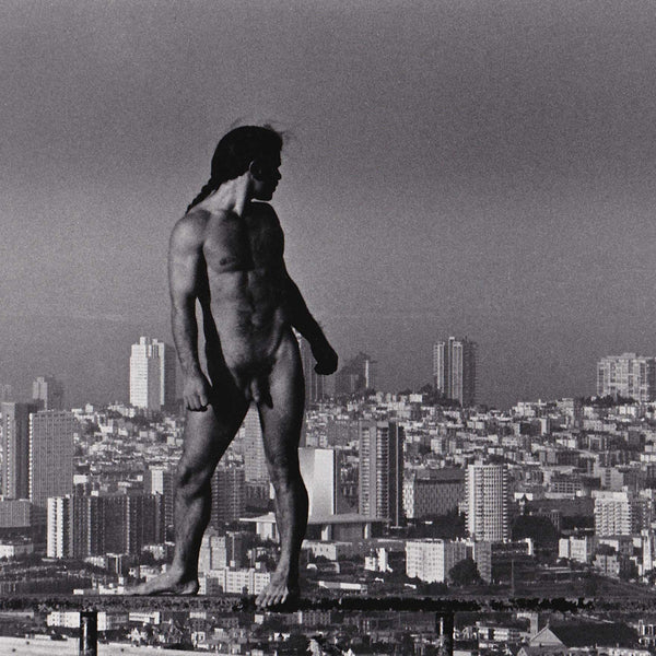 Crawford Barton Vintage Photo: Larry Lara Nude with SF Skyline