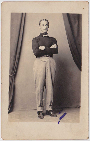Man with Bowtie: Real Photo Postcard