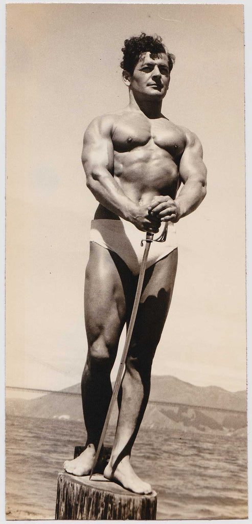 Denny of SF Vintage Physique Photo: Bodybuilder with Sword