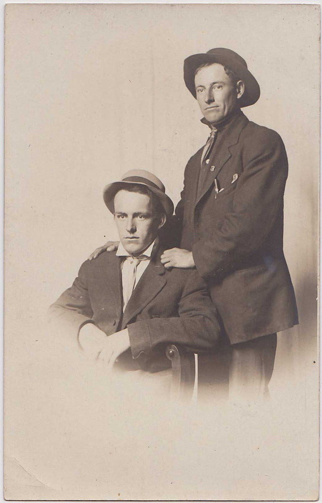 Affectionate Men, John and Charles: Real Photo Postcard