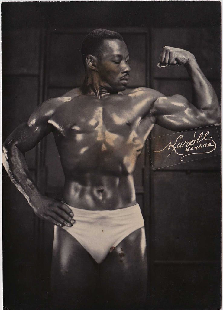 Vintage physique photo Karoll of Havana