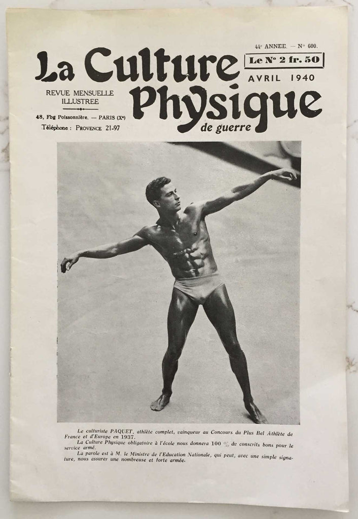 La Culture Physique de Guerre: Vintage French Magazine
