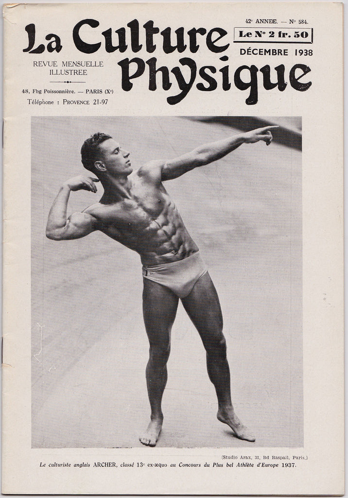 La Culture Physique: Vintage French Magazine Dec 1938