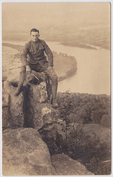 Fred on Mountain: Real Photo Postcard