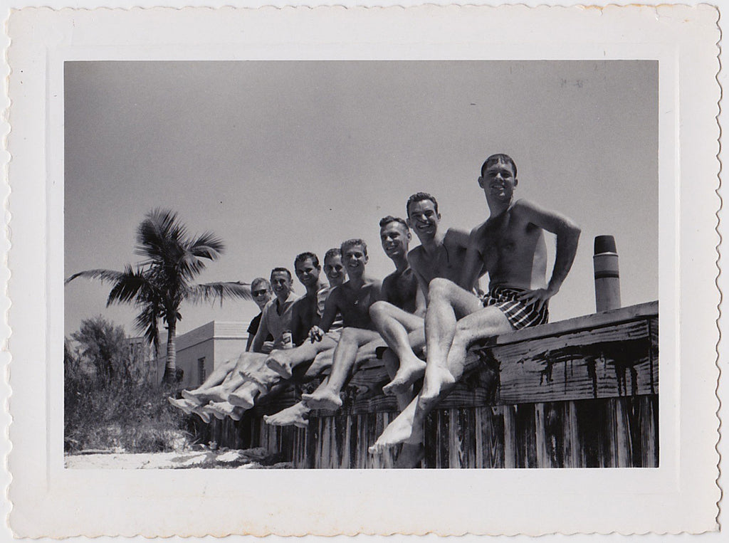 Guys Showing Off their Legs vintage snapshot