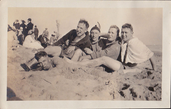 Motley Crew at the Beach vintage photo