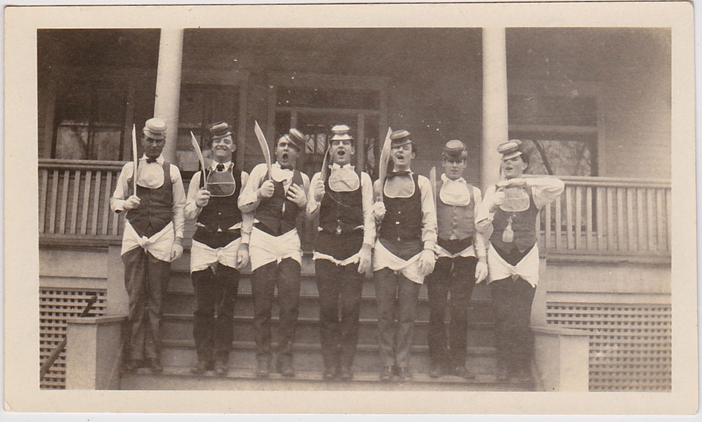 Phi Delta Theta: Men in a Row vintage snapshot