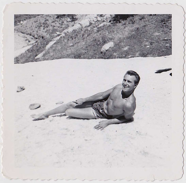 Hot Man in Swimsuit: Vintage Gay Interest Photo