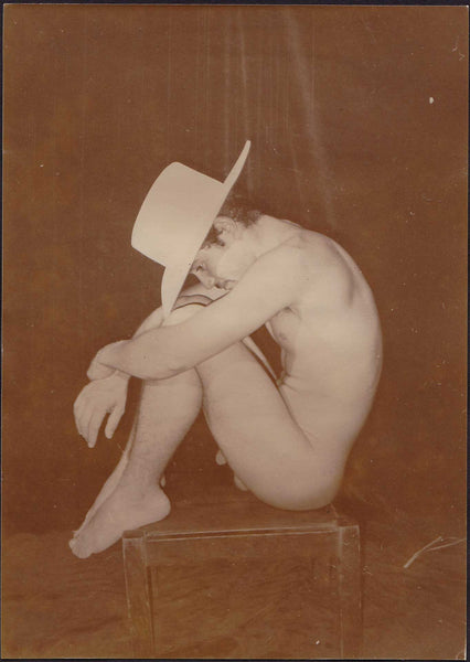 Edward McAndrews Vintage Male Nude Wearing Hat