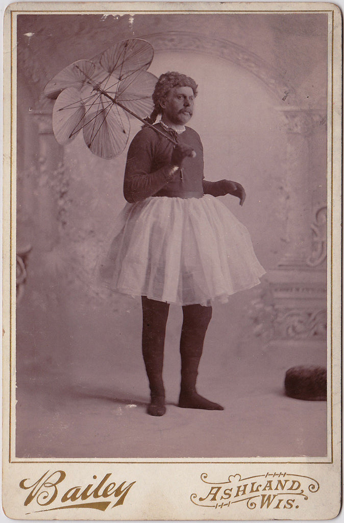 Vintage Cabinet Card by Bailey of Ashland, Wis., identified on verso as Mr. Turner.""