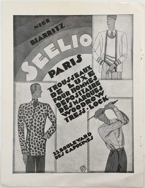 Seelio: Men's Fashion Ad, 1928