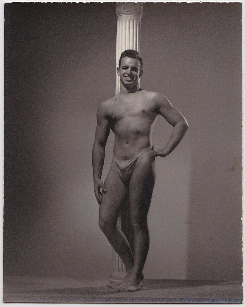 Spartan of Hollywood Vintage Photo: Male Nude with Column