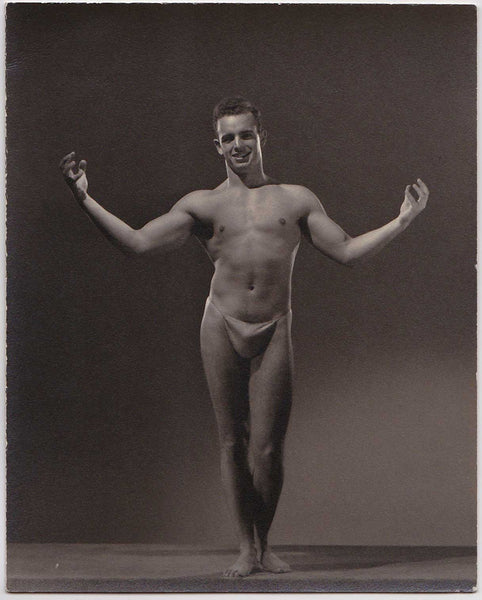Spartan of Hollywood Vintage Photo: Male Nude Arms Outstretched