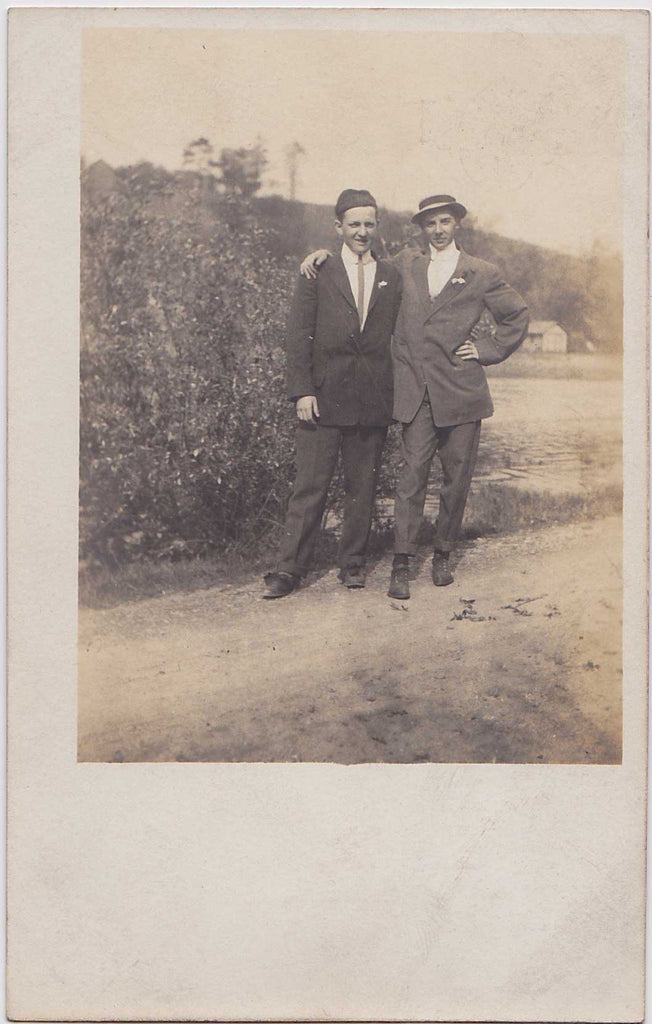 Affectionate Men, Tommy & Bert: Real Photo Postcard