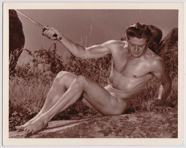 Western Photo Guild Vintage Male Nude with Foil