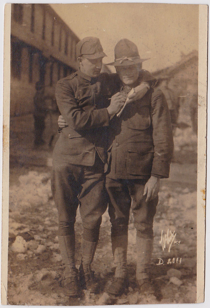 Affectionate Doughboys: Real Photo Postcard