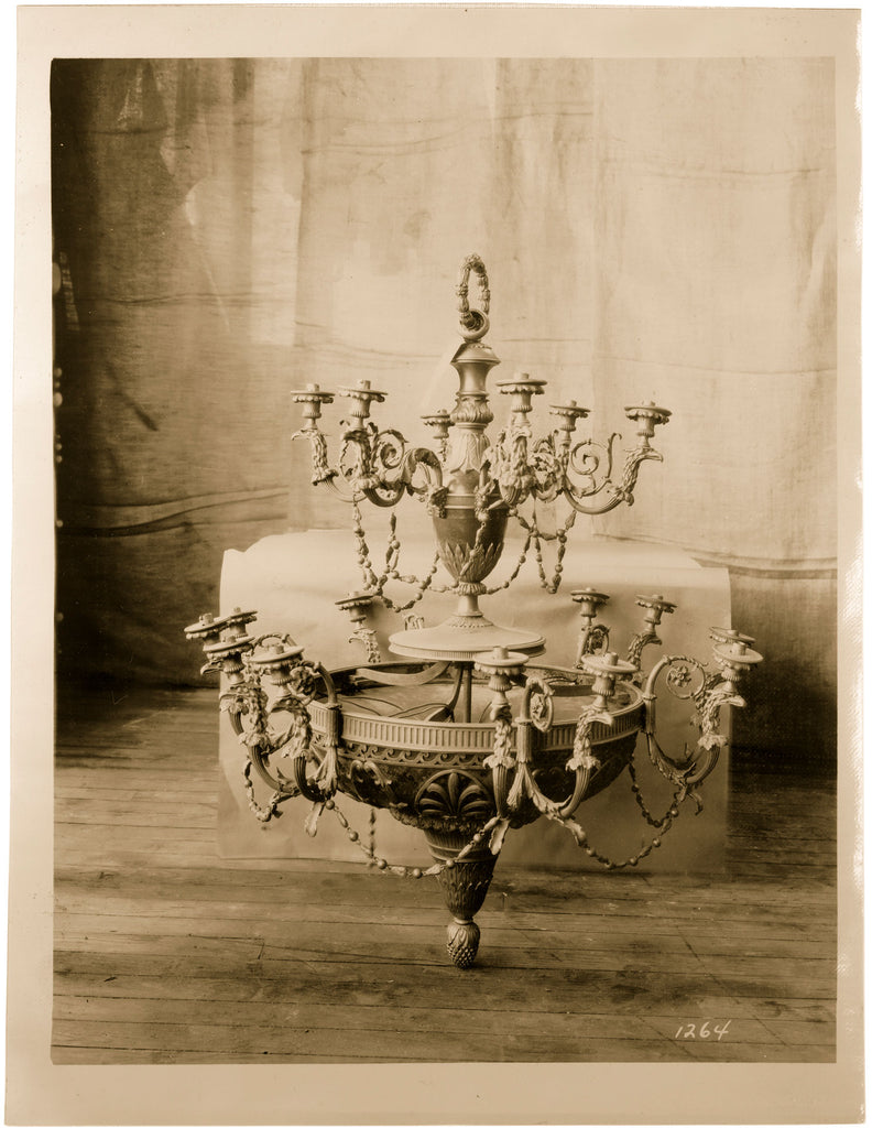 Altman Collection: Chandelier en Pointe vintage sepia photo interior decoration