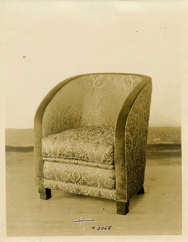Altman Collection: Upholstered Chair vintage sepia photo interior decor, furniture