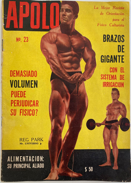 Apolo: Vintage Argentinian Physique Magazine May 1965 Reg Park