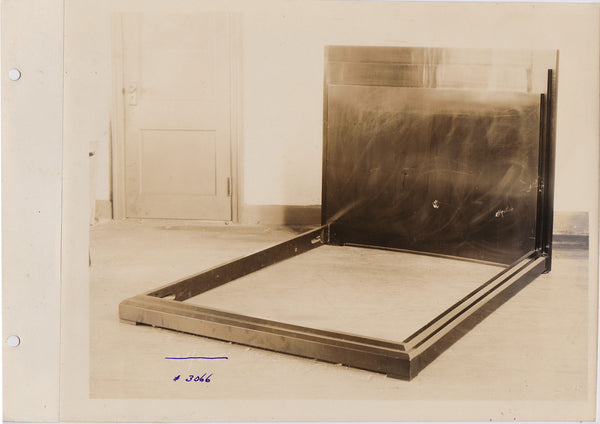 vintage sepia photo With its polished surfaces and rectangular planes this bed frame might be mistaken for a minimal sculpture.