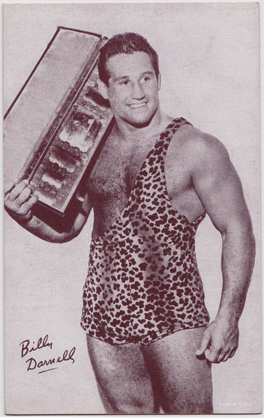 Wrestler Billy Darnell Photo Litho Postcard