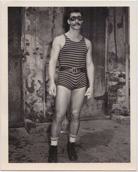 Early vintage photo by Bruce of Los Angeles: A sexy guy wearing a singlet and belt