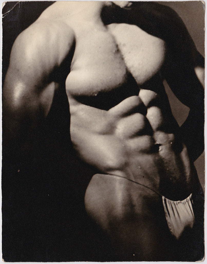 Western Photo Guild Six-Pack Abs vintage physique photo