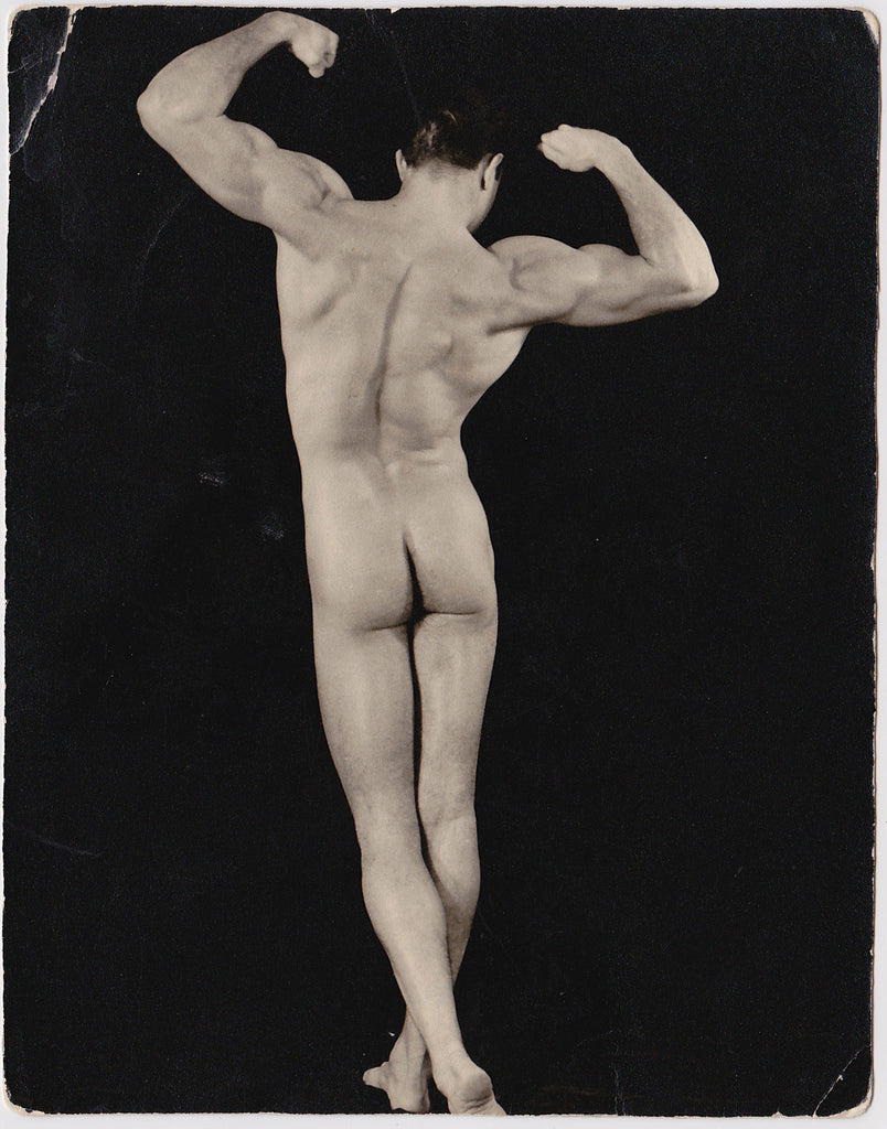 Western Photo Guild Jim Dardanis Back View Vintage male nude photo