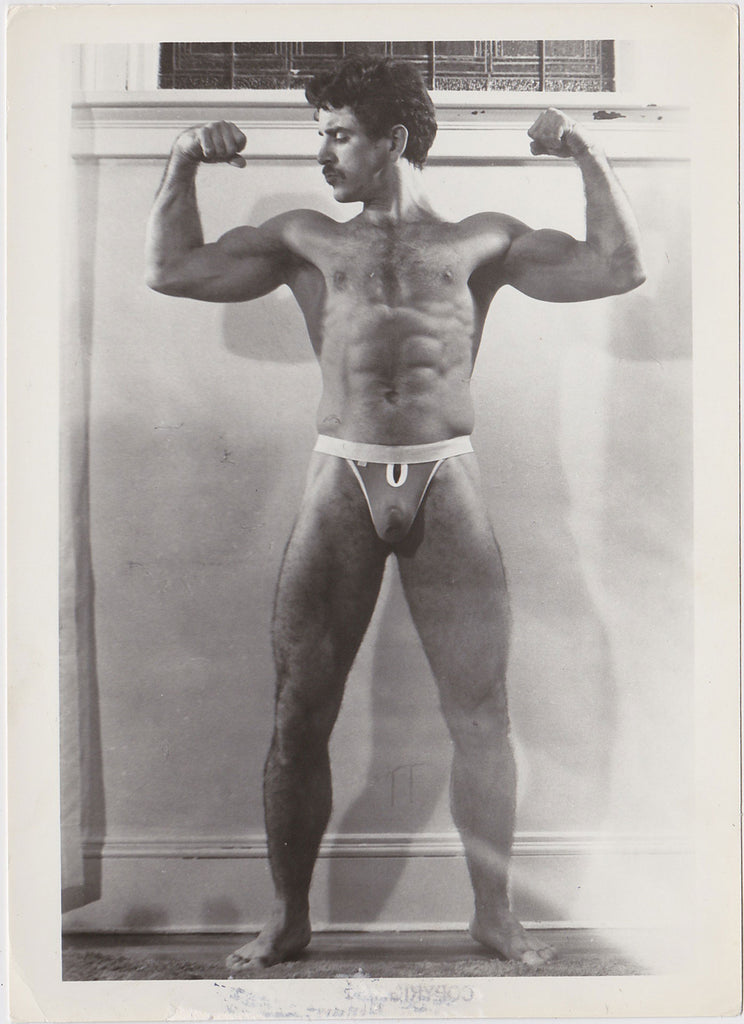 D.P. Studio: Mario Flexing in Jockstrap Vintage Photo