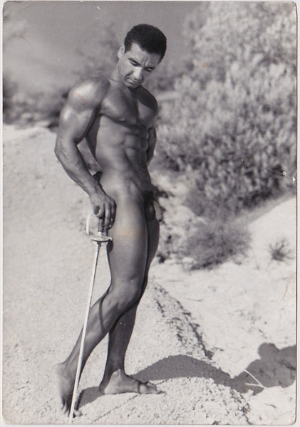 Jean Ferrero Vintage Gay Photo: Male Nude Muscular Christian Dancale