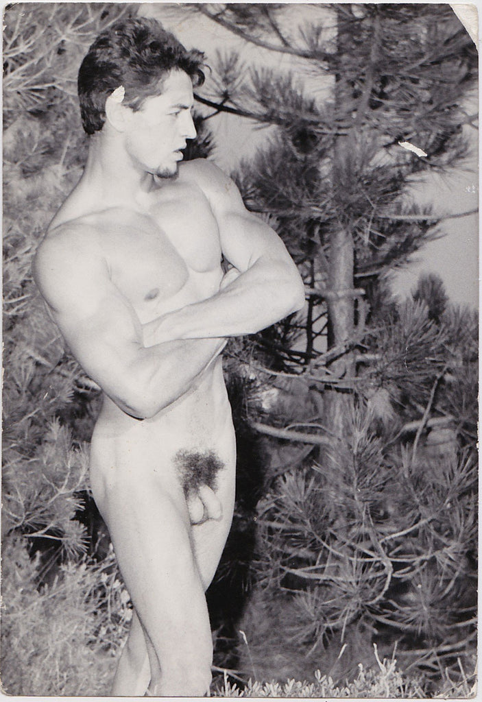 Vintage physique photo by Jean Ferrero Male Nude with Arms Crossed